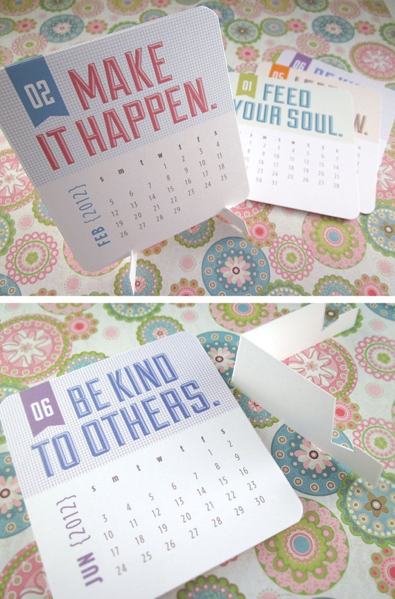 more awesome desk calendar design / $12
