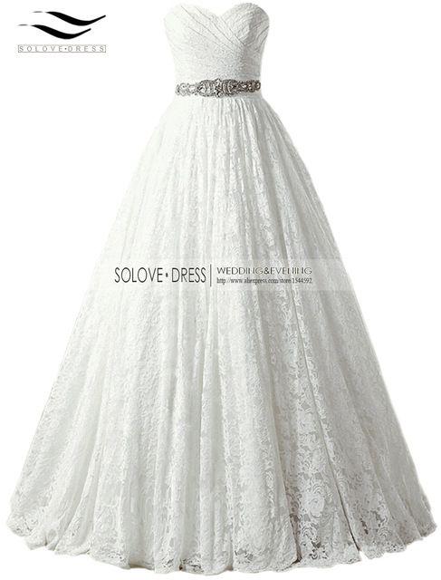 2017 a linha lace querida cristais foto real lace vestido de noiva da princesa vestidos de casamento vestido de baile caixilhos china vernassa w666