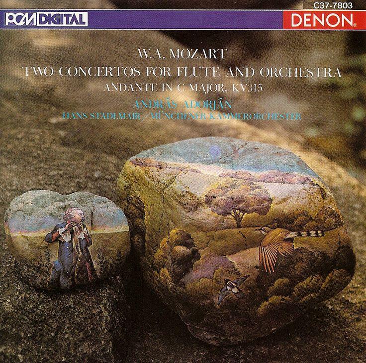 Mozart: Two Concertos for Flute & Orchestra - Flute Concerto no.1 in G major K313 (285c), Flute Concerto no.2 in D major K314 (285d) & Andante for Flute & Orchestra in C major K315 (285e). András Adorján, Flute & cadenzas; Hans Stadlmair, Münchener Kammerorcheter. DENON (1979) C37-7803