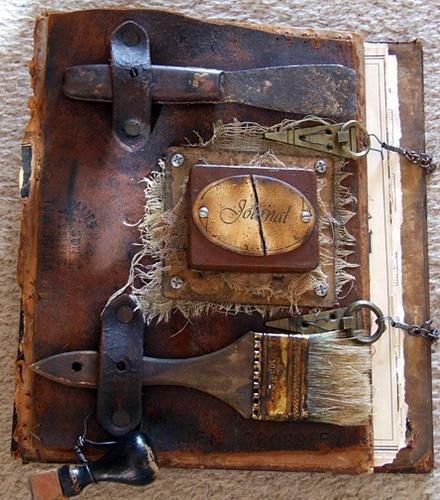 Handbound book by Judy Wilkenfeld #bookclasps #journalclosures, #alteredbookclosures