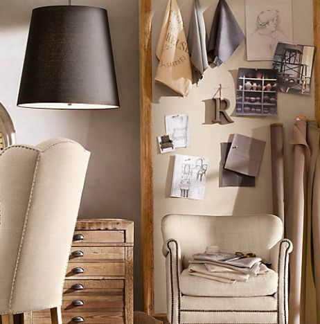 Inspiration board for your home office bulletin board for Linen cork board