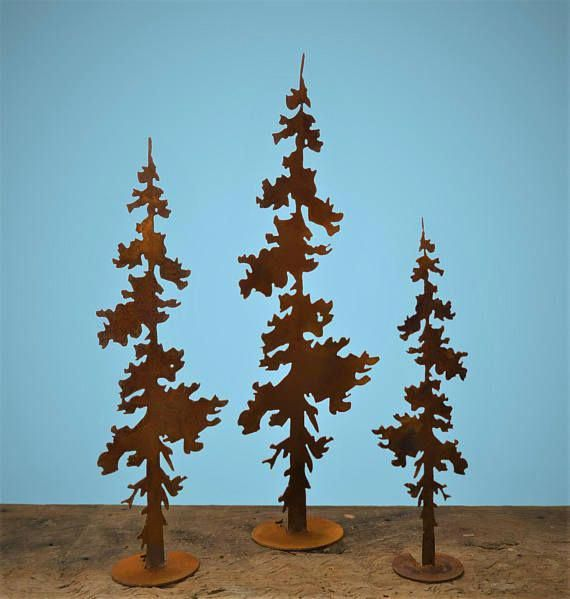 Pine Tree Pop Up Pedestal Set Of 3 Pine Tree Art Evergreen