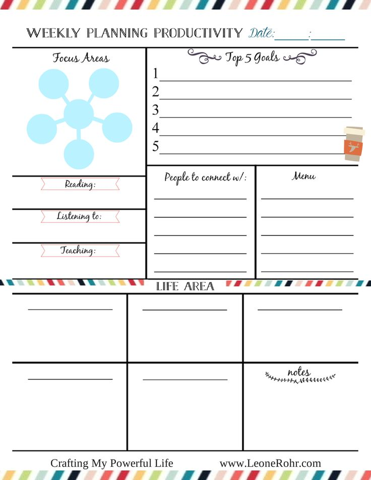 51 best Free Monthly\/Weekly Printables images on Pinterest - daily planner template word