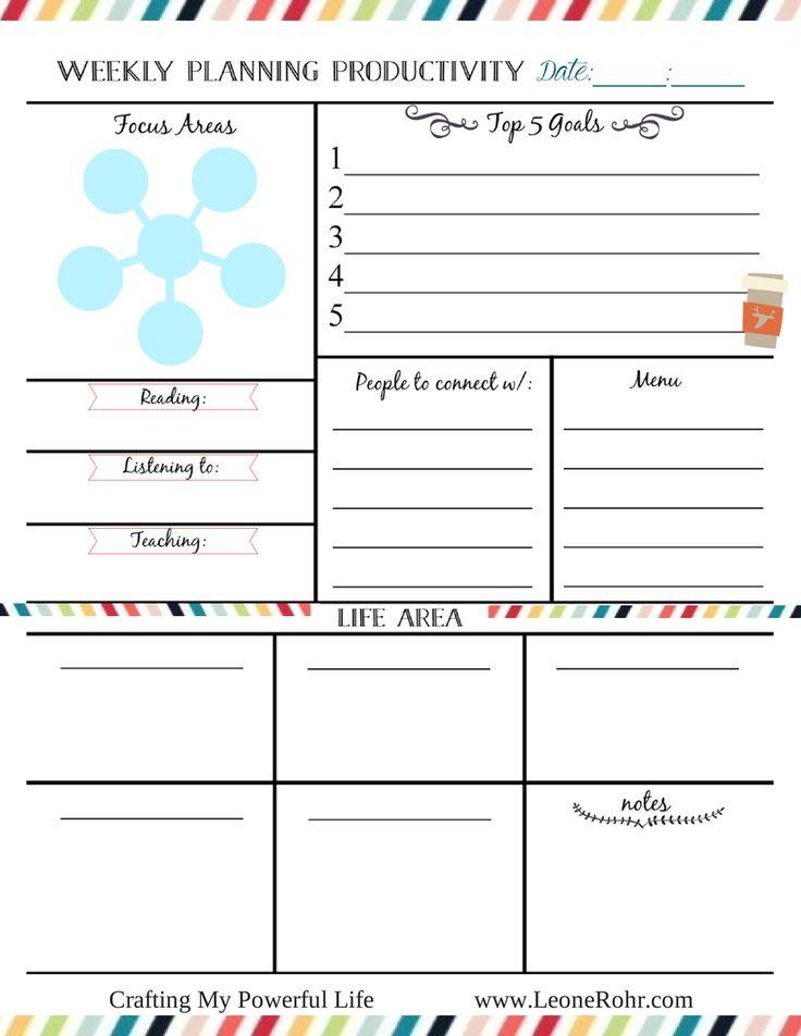 Free Weekly Planning Printable