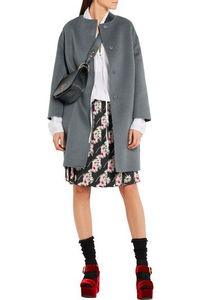 Prada - Floral-print Pleated Cady Skirt - SALE20 at Checkout for an extra 20% off