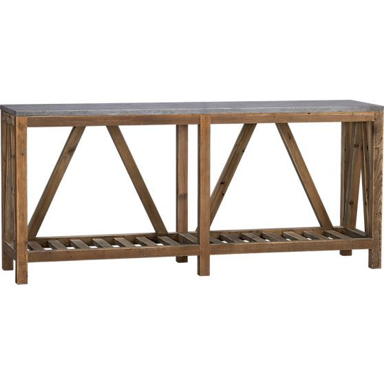 Bluestone Console Table Crate And Barrel Tvs Crate