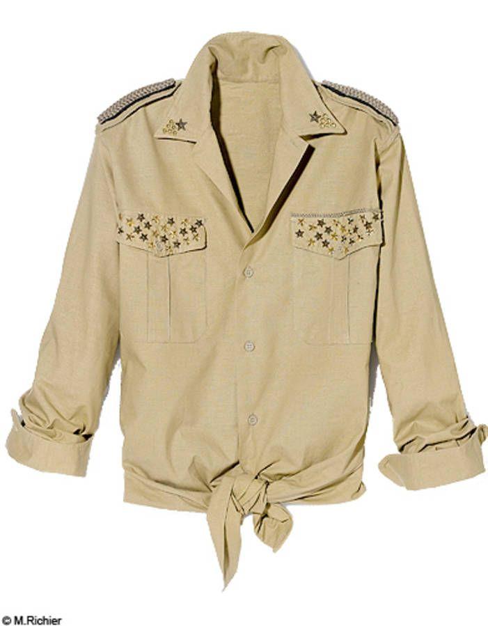 Mode do it tendance look veste militaire chemise