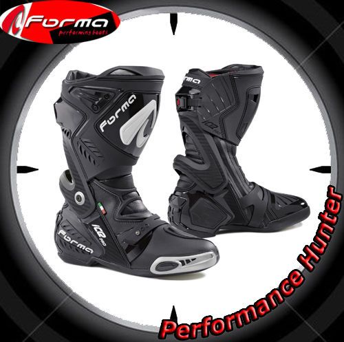MOTORCYCLE BOOTS SHOES FORMA RACING ICE PRO BLACK SZ: 43