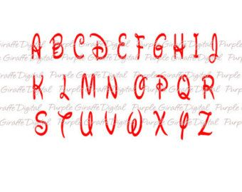 WALT svg Font Walt Disney Font Alphabet Design svg eps by inkminta
