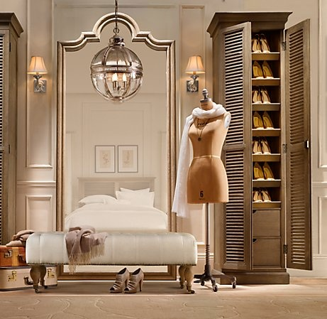 Restoration Hardware shoe tower. I would LOVE for my future closet to look like this.