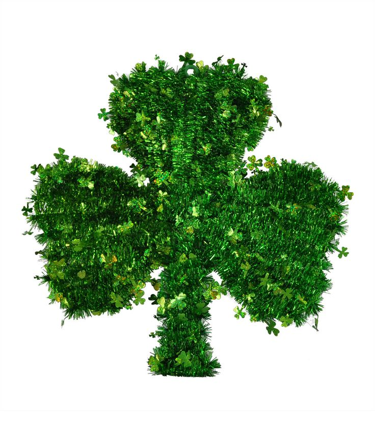 St. Patrick's Day Shamrock Tinsel Wall Decor