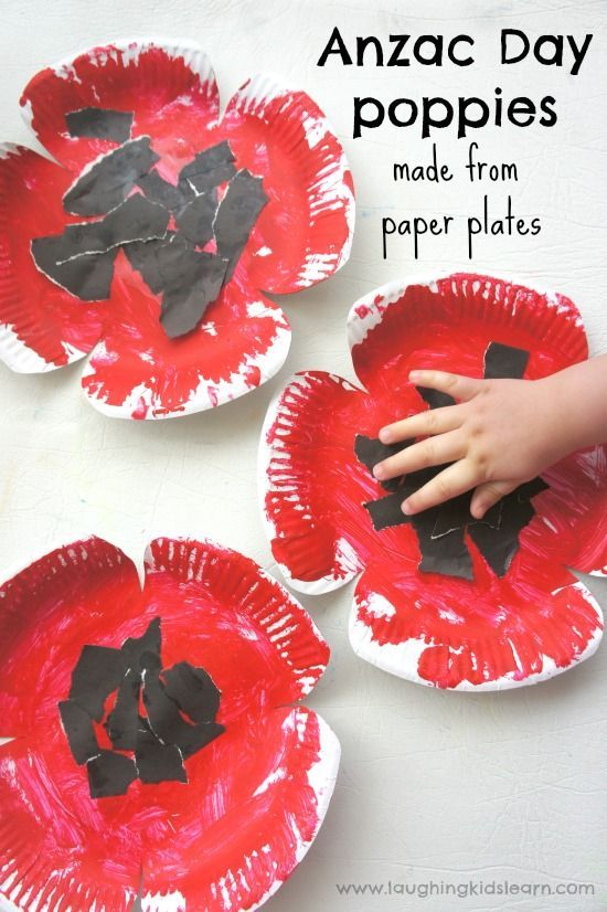 A collection of art and craft idea to help children learn about Anzac Day.