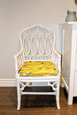 Hollywood Regency Chinoiserie Faux Bamboo chair makeover