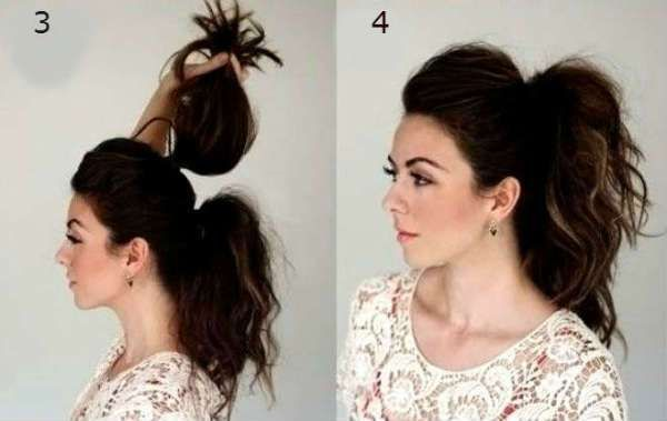 Hairstyles for curly hair, gradual ponytails for curly hair … # hairstyle ponytail