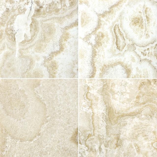 6 x 6 Polished Crema Onyx 75-050 #Profiletile