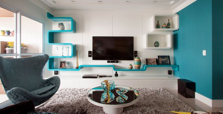 Sala Pequena Na Cor Azul ~ Confira a #decoração que une cor, design e sofisticação em apenas