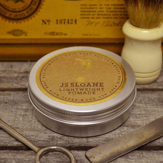 JS Sloane Lightweight Brilliantine Pomade - Water Based Hair Pomade – Pomade.com - One Stop Pomade Shop