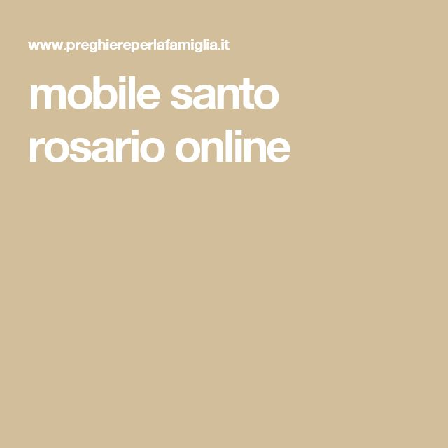 mobile santo rosario online
