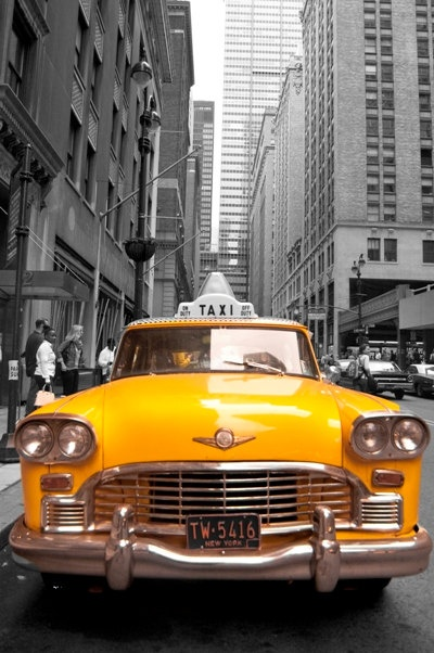 Yellow cab taxi new york hdr artistic Photo by mithelessandircanci ON ETSY.