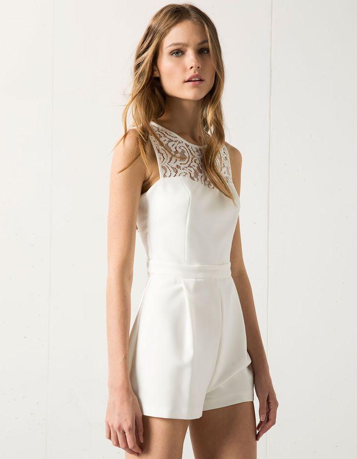 Bershka short lace jumpsuit - Dresses and jumpsuits - Bershka Serbia