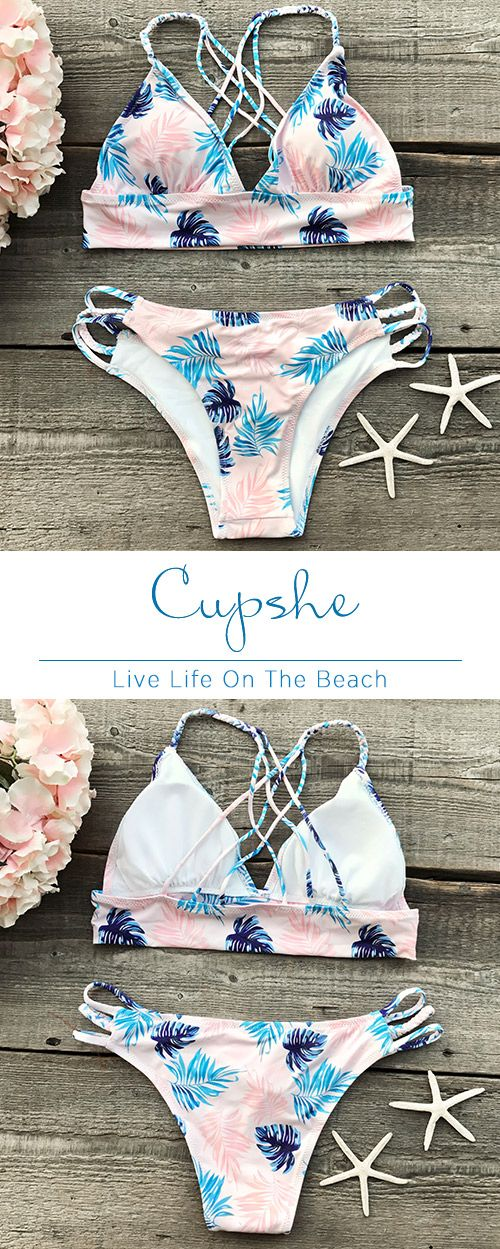 New style, $23.99! Fast Shipping & Easy Return + Refund! Out Of Mind Leaves Bikini Set has an adorable leaves print, strappy detailing design. It is an excellent choice for a day in the surf or sipping at the beach bar.