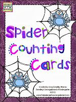 FREE!  Spider web counting cards!  These are perfect to use with spider rings and make a fun Halloween math center!