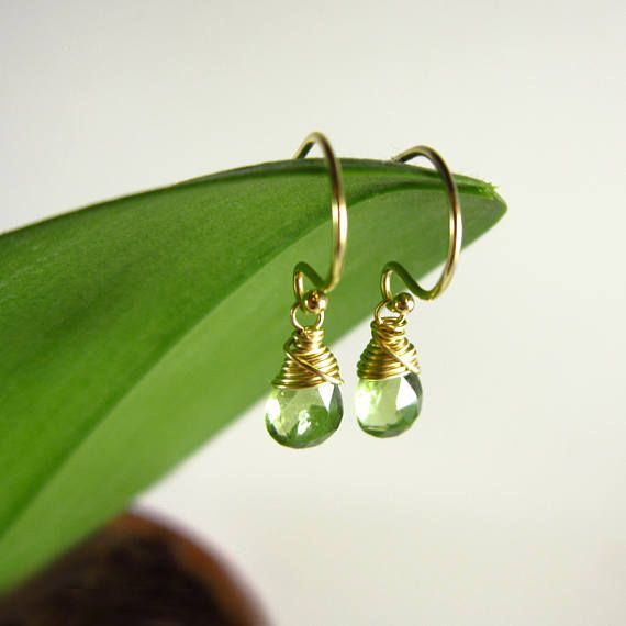 village peridot stud drop goldsmith the stone earrings