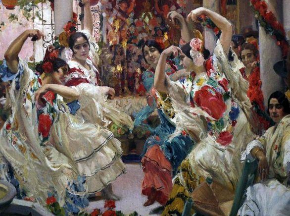 Joaquin Sorolla - El baile - Sevilla - 1917
