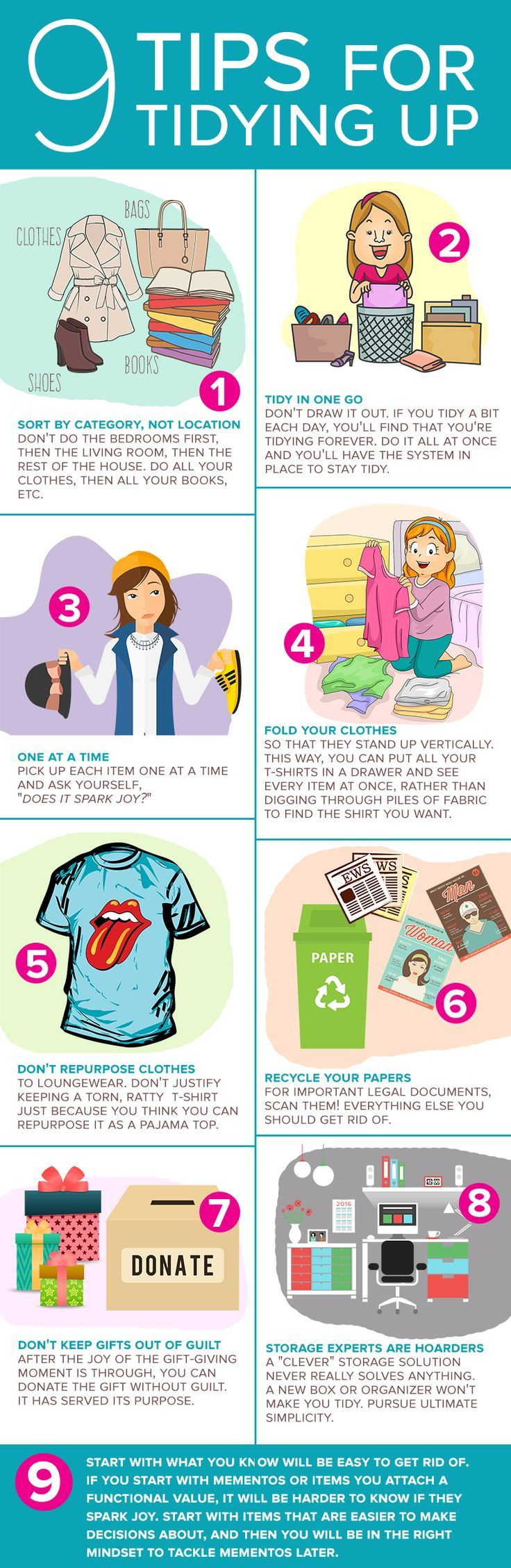 """Marie Kondo's tips in her book """"The Life-changing Magic of Tidying up"""" are said to really help people not only get organized, but stay that way. Here's how it works."""