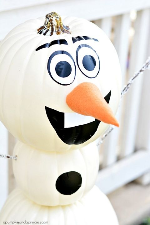 Olaf Pumpkin Craft