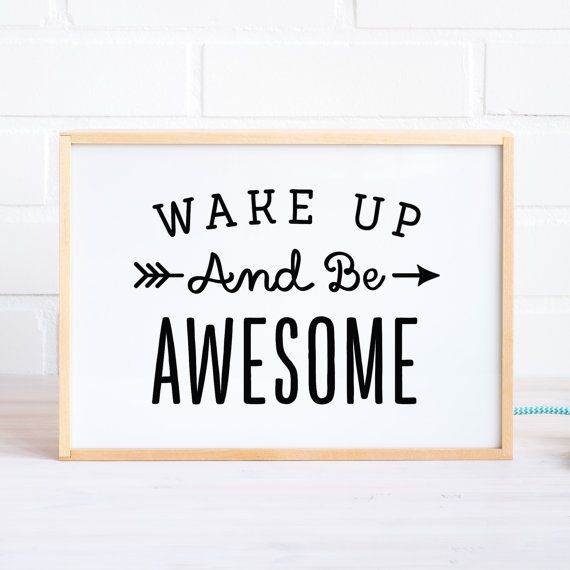 Lightbox with Wake up Quote / Wooden Light box by MadeofSundays