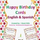 Give your students this birthday card for their birthday!  There is an English version and a Spanish version.  Just print it out and give it to the...