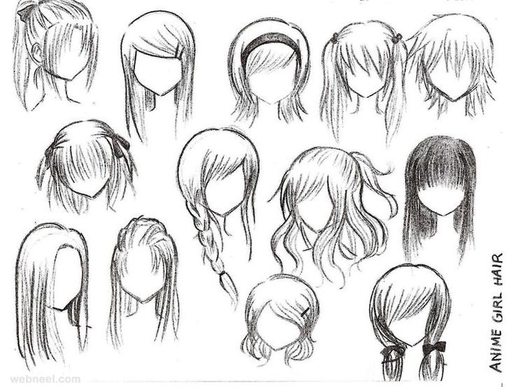 The Best Girl Hair Drawing Ideas On Pinterest Hair Sketch - Drawing a hairstyle