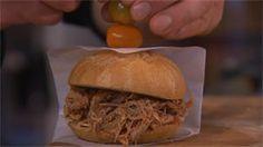Recept: pulled pork sandwich met barbecuesaus met chips van zoete aardappel