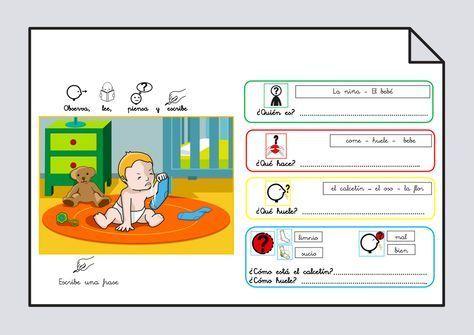 Material para trabajar comprensión / expresión oral y lectoescritura. Verbo Oler