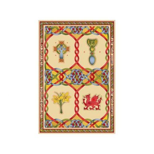 Welsh Emblems Tea Towel