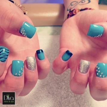 3d nails design diva nails spa pinterest blue for 3d nail art salon
