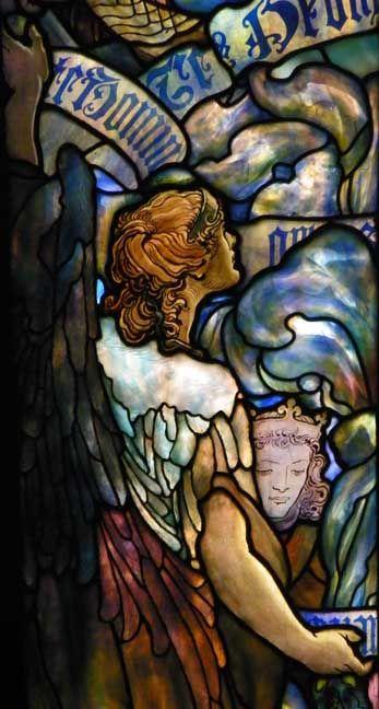 "Detail,  ""Te Deum Laudamus"" —First Presbyterian Church, Syracuse, NY. #stainedglass"