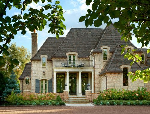 Transitional french residence hinsdale charles for Georgiana design