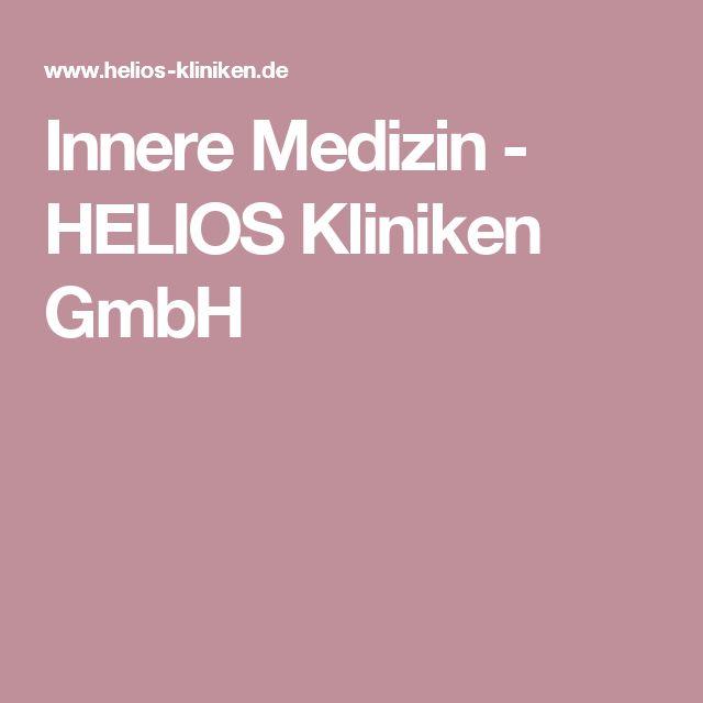 Innere Medizin - HELIOS Kliniken GmbH