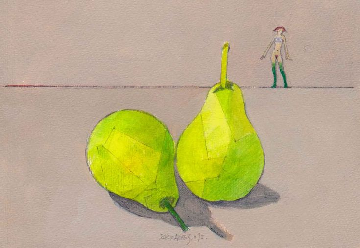 meias verdes/ acrílico sobre papel/ 13x18 cm/ 2012