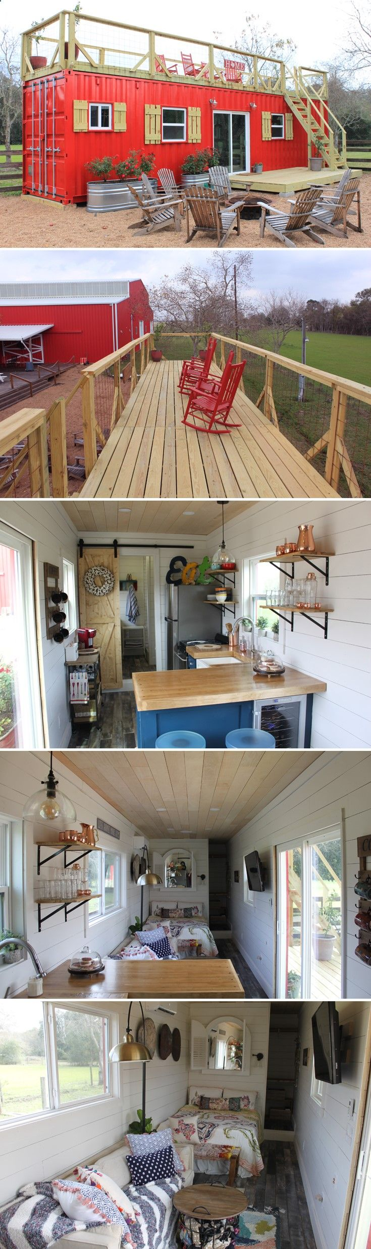Container House - A 40 shipping container tiny house built by Backcountry Containers, located outside Houston, Texas. The home was featured on Tiny House, Big Living! Who Else Wants Simple Step-By-Step Plans To Design And Build A Container Home From Scratch?