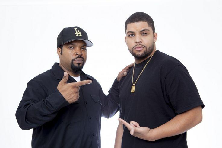 O'Shea Jackson Sr. & son O'Shea Jackson Jr.