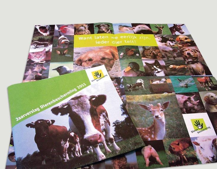 Jaarverslag 2011, Dierenbescherming / jaarverslagenontwerp / 2012 - Ontwerp door Cascade - visuele communicatie Amsterdam