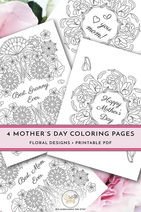 Printable Mother S Day Coloring Pages Diy Happy Mother S Day Gift