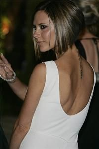"Hair Obsessed: Best Haircut of 2007 - Victoria ""Posh"" Beckham's bob (photo front back side and profile pics)"