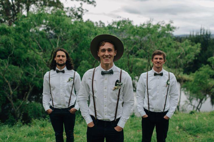 Shawn & Ellie Wedding  Kangaroo Valley, NSW, AU  Groom & Groomsmen