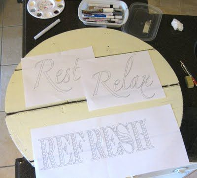 Great tutorial on how to make signs and word art for your home- she also has an Etsy store- super cute stuff