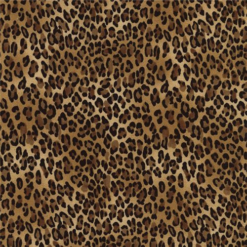 brown black small leopard print fabric Timeless Treasures  1