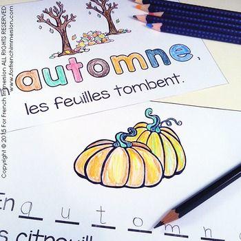 French Autumn/Fall - EN AUTOMNE - en français - emergent reader